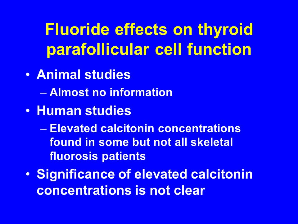 Fluoride effects on thyroid parafollicular cell function