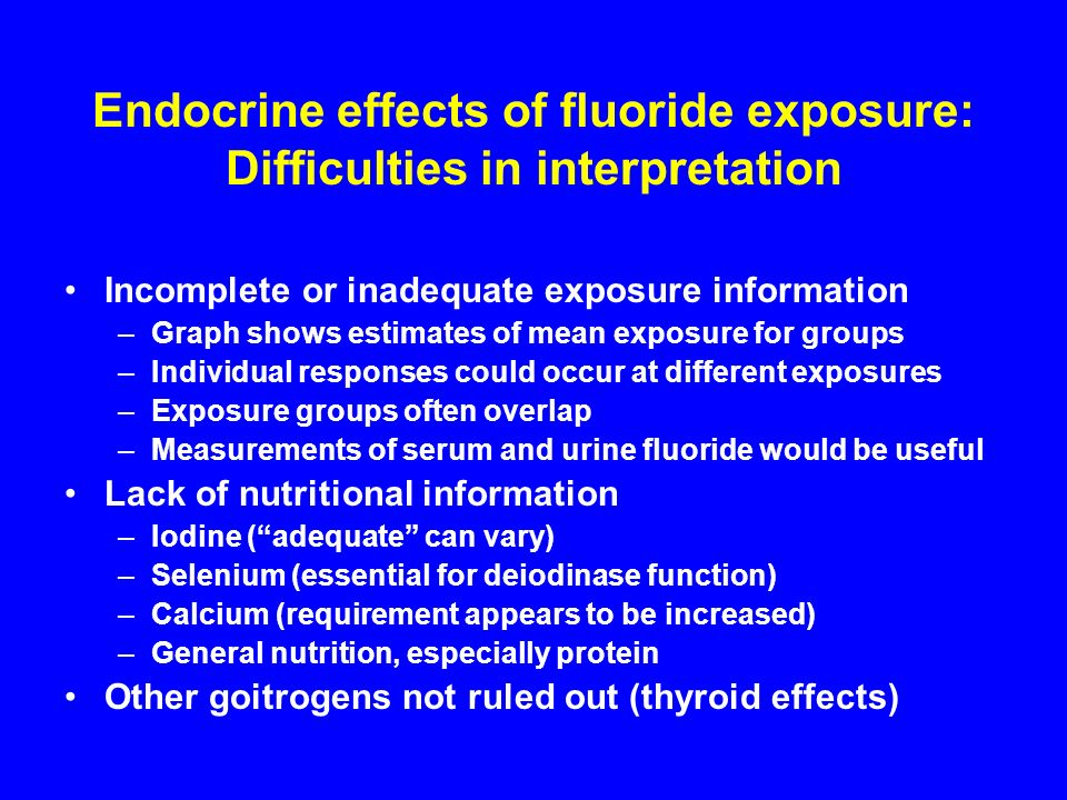 Endocrine effects of fluoride exposure: Difficulties in interpretation