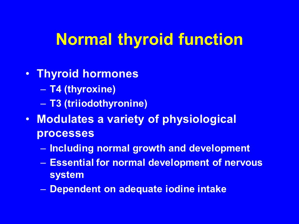 Normal thyroid function