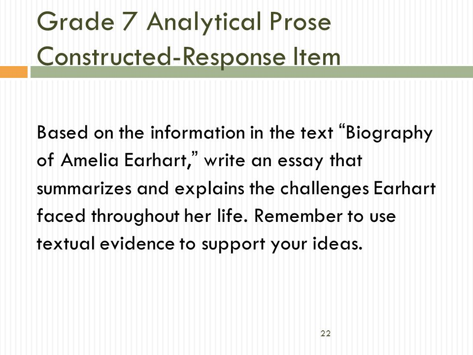 Grade 7 Analytical Prose Constructed-Response Item