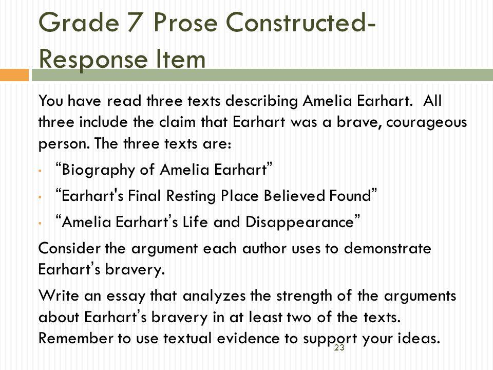 Grade 7 Prose Constructed-Response Item