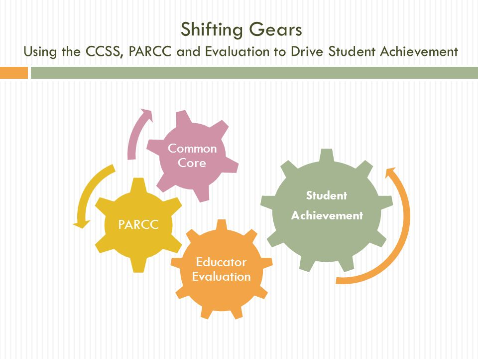Shifting Gears Using the CCSS, PARCC and Evaluation to Drive Student Achievement
