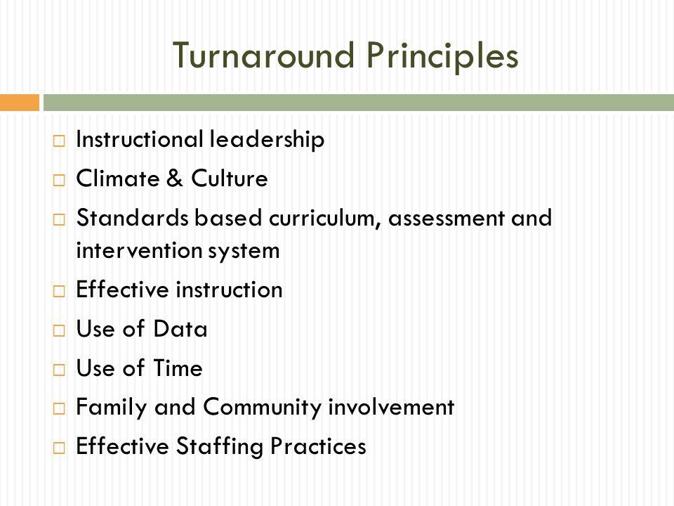 Turnaround Principles