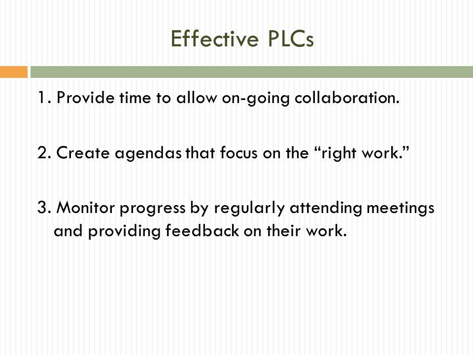 Effective PLCs