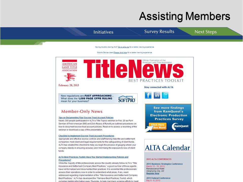 Assisting Members Assisting Members