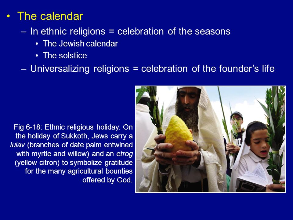 The calendar In ethnic religions = celebration of the seasons