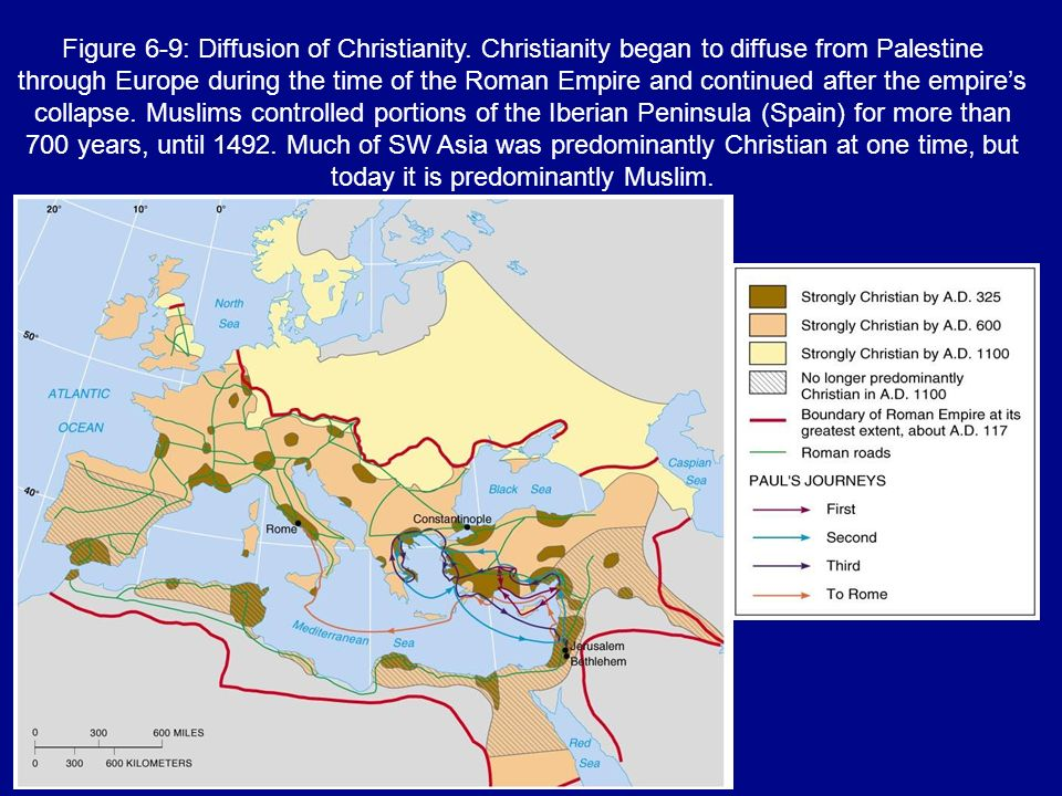 Figure 6-9: Diffusion of Christianity