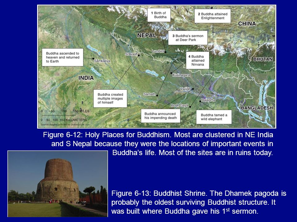 Figure 6-12: Holy Places for Buddhism