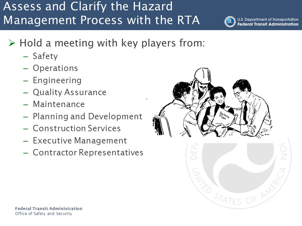 Assess and Clarify the Hazard Management Process with the RTA