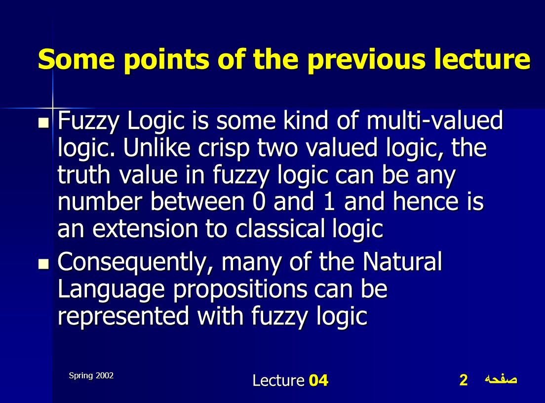 Some points of the previous lecture