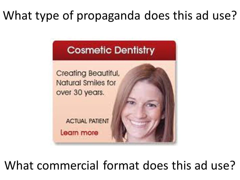 What type of propaganda does this ad use