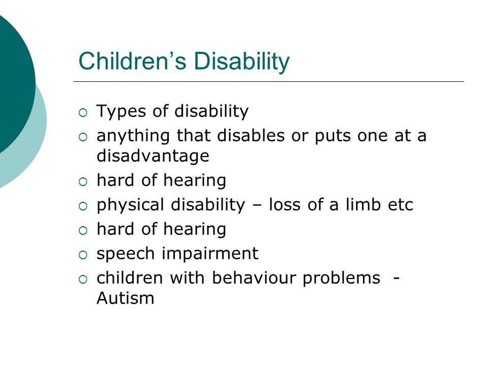 Children's Disability
