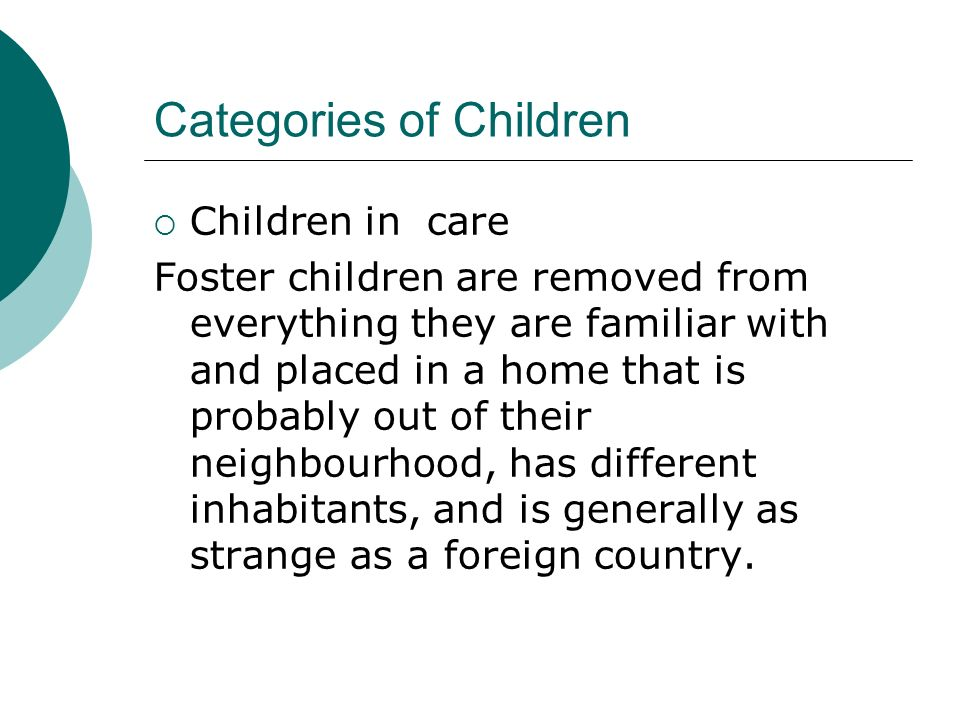 Categories of Children