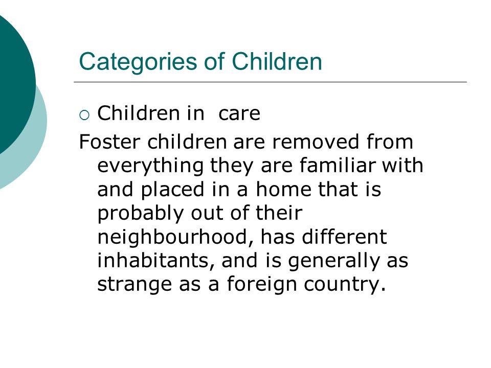 Categories of Children