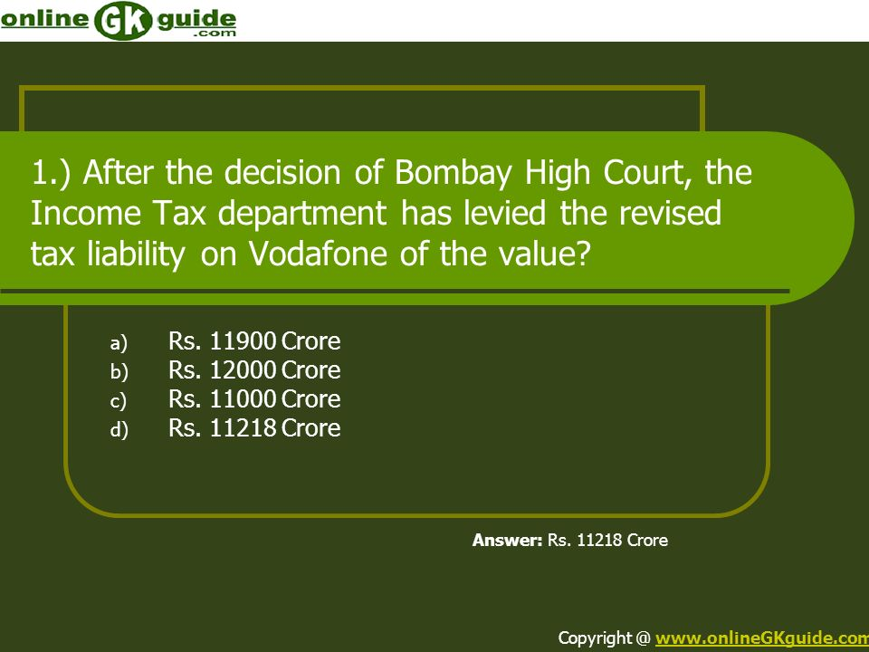 Rs. 11900 Crore Rs. 12000 Crore Rs. 11000 Crore Rs. 11218 Crore