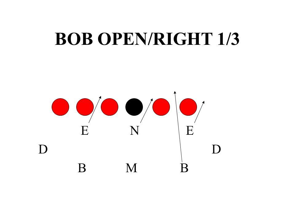 BOB OPEN/RIGHT 1/3 E N E. D D.