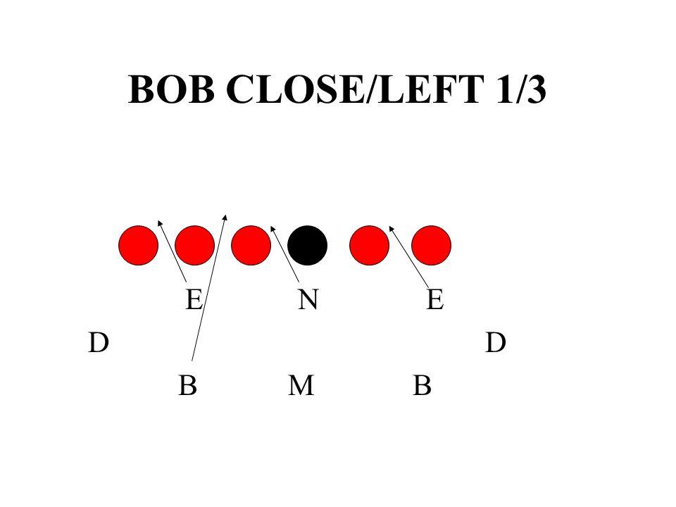 BOB CLOSE/LEFT 1/3 E N E. D D.