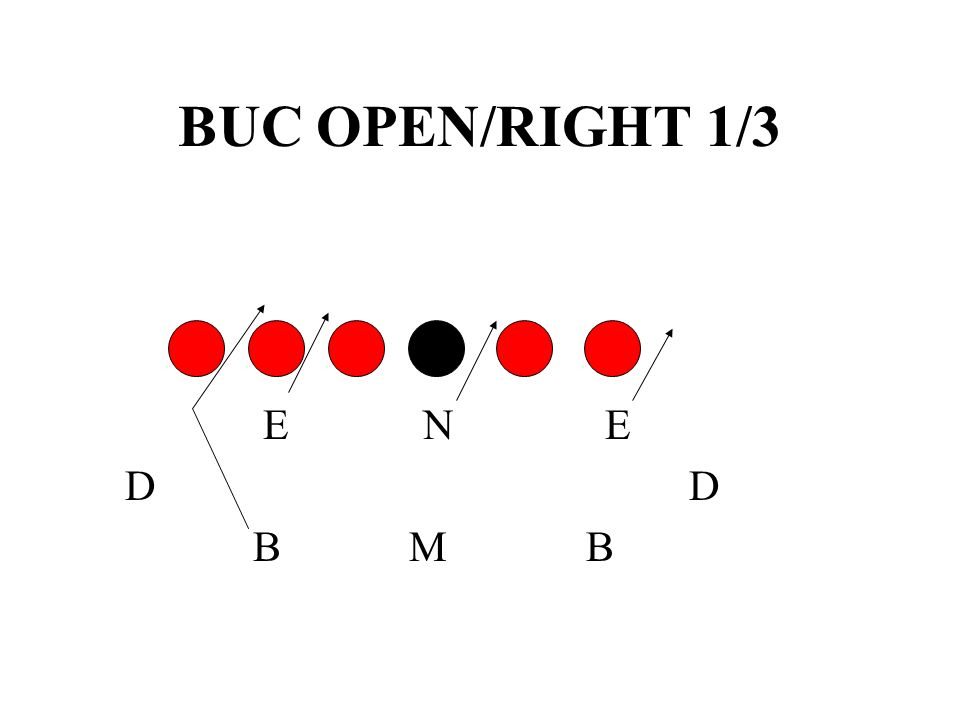 BUC OPEN/RIGHT 1/3 E N E. D D.