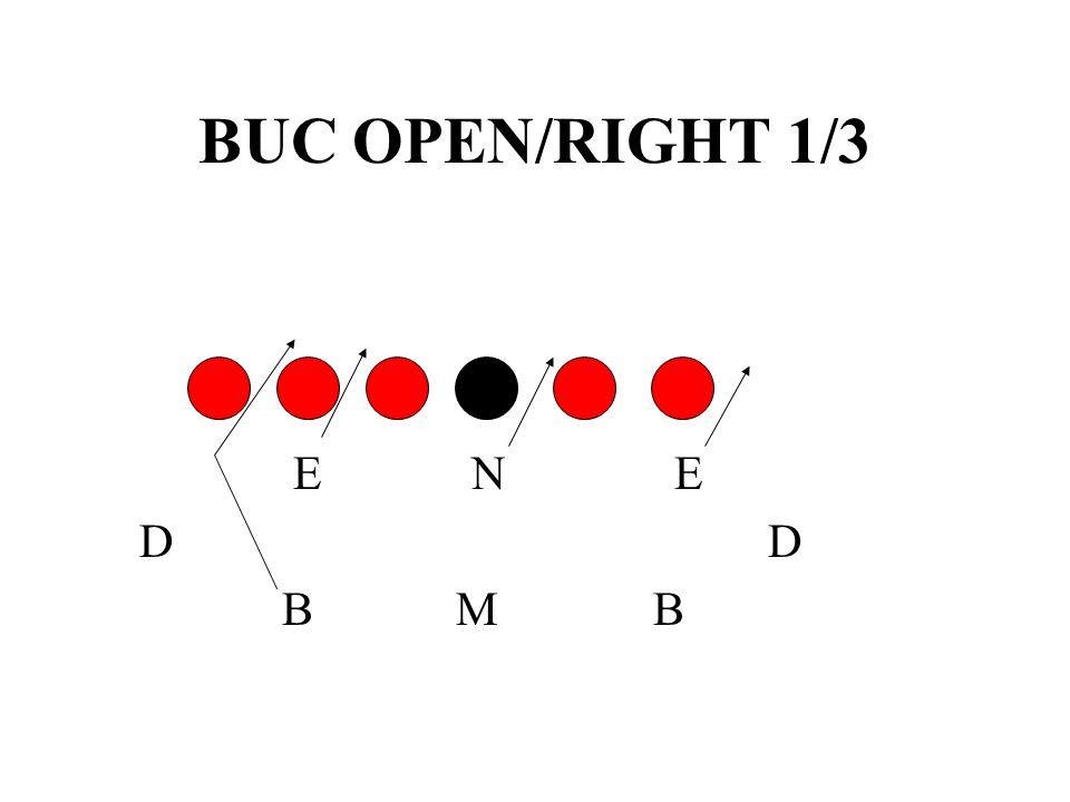 BUC OPEN/RIGHT 1/3 E N E. D D.