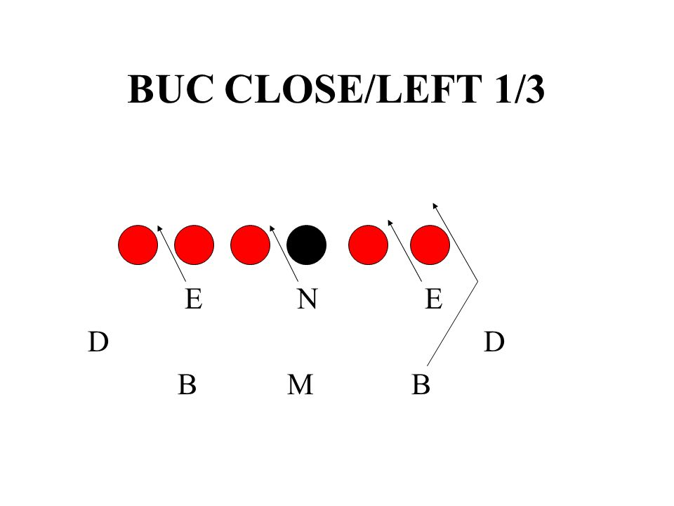 BUC CLOSE/LEFT 1/3 E N E. D D.