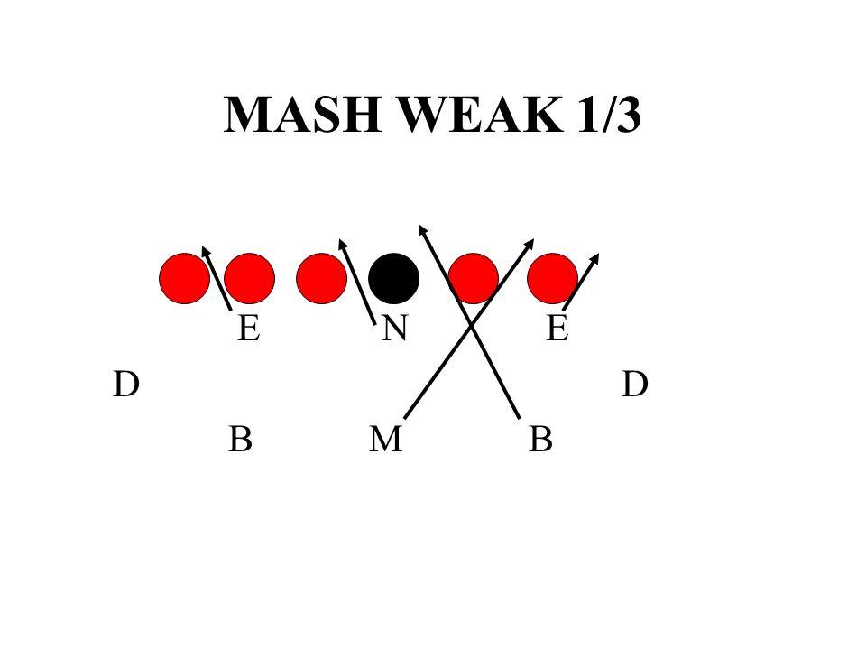 MASH WEAK 1/3 E N E. D D.