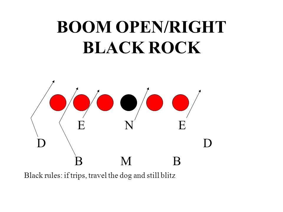 BOOM OPEN/RIGHT BLACK ROCK