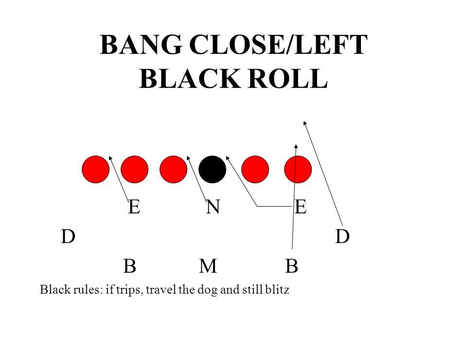 BANG CLOSE/LEFT BLACK ROLL