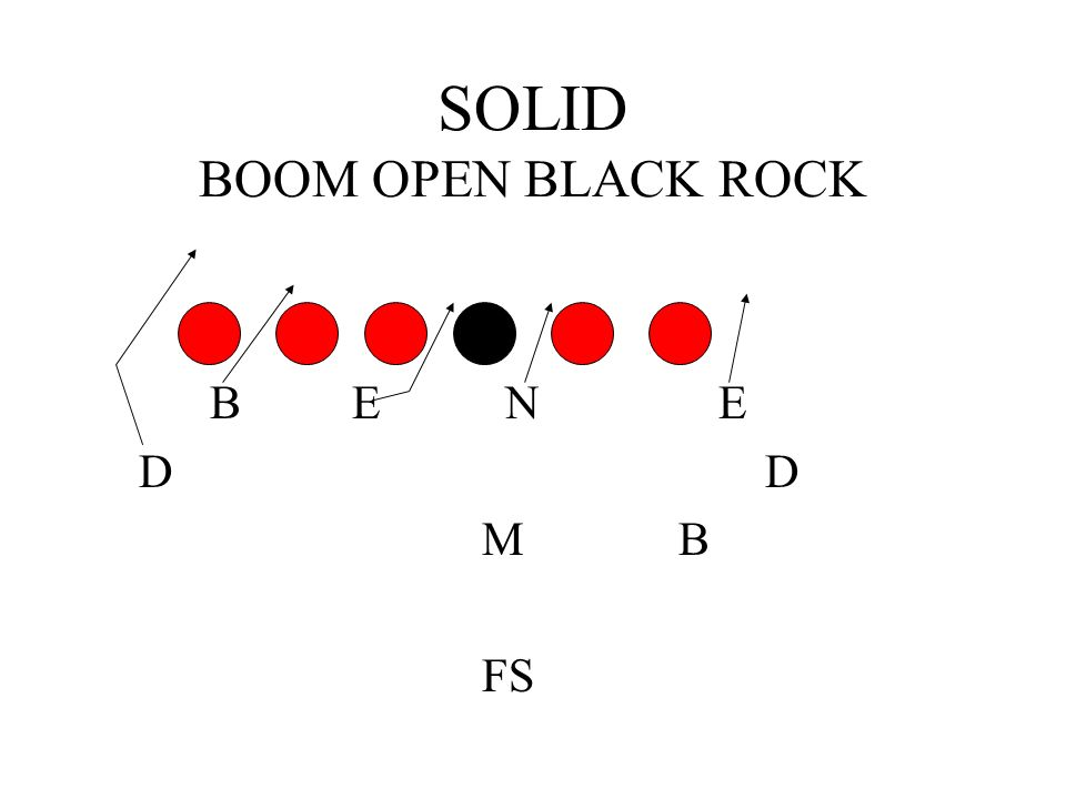 SOLID BOOM OPEN BLACK ROCK