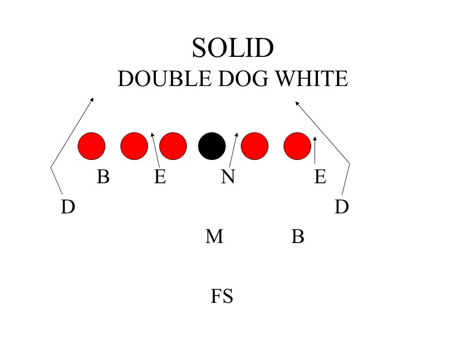 SOLID DOUBLE DOG WHITE B E N E. D D.