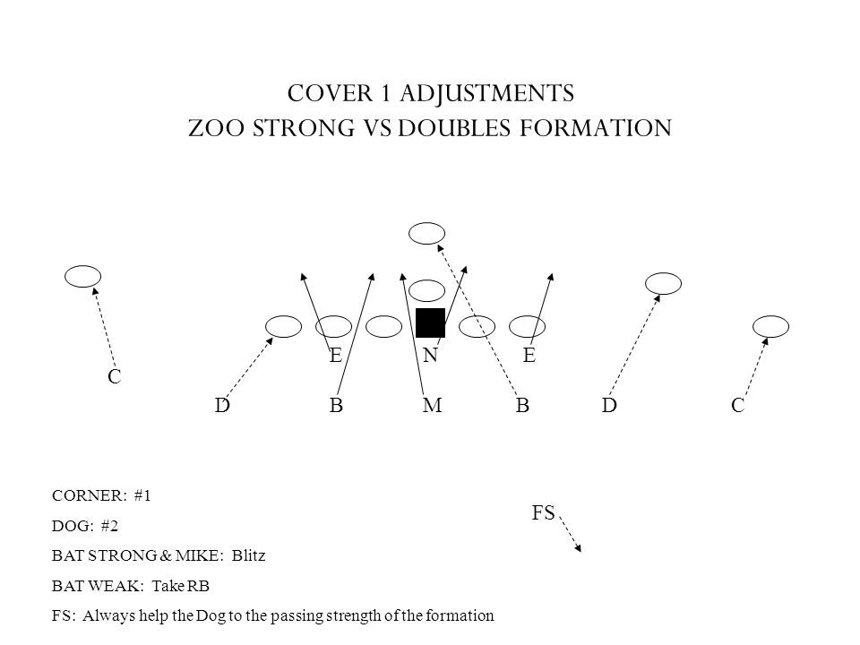 COVER 1 ADJUSTMENTS ZOO STRONG VS DOUBLES FORMATION