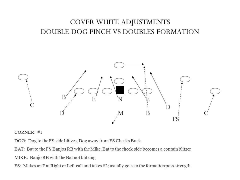 COVER WHITE ADJUSTMENTS DOUBLE DOG PINCH VS DOUBLES FORMATION