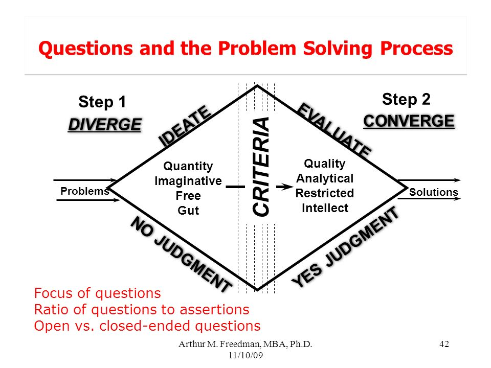 Questions and the Problem Solving Process