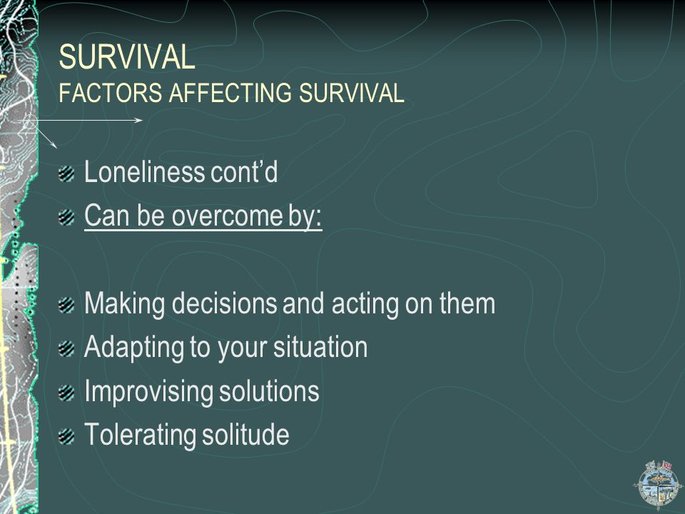 SURVIVAL FACTORS AFFECTING SURVIVAL