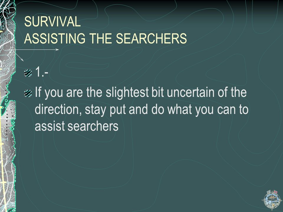 SURVIVAL ASSISTING THE SEARCHERS