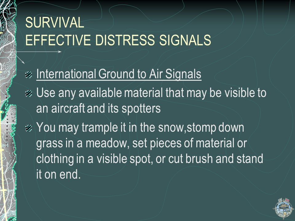 SURVIVAL EFFECTIVE DISTRESS SIGNALS