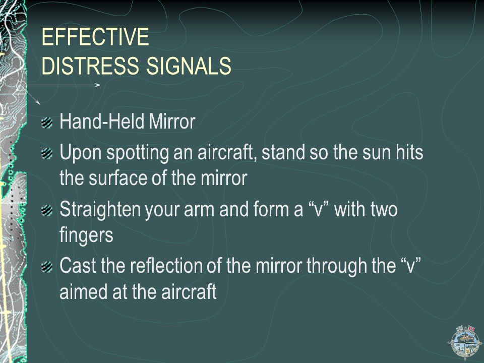 EFFECTIVE DISTRESS SIGNALS