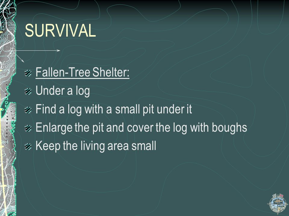 SURVIVAL Fallen-Tree Shelter: Under a log