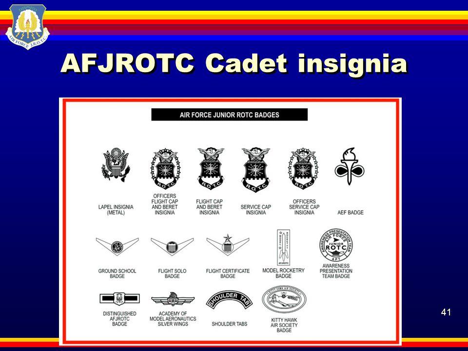 AFJROTC Cadet insignia