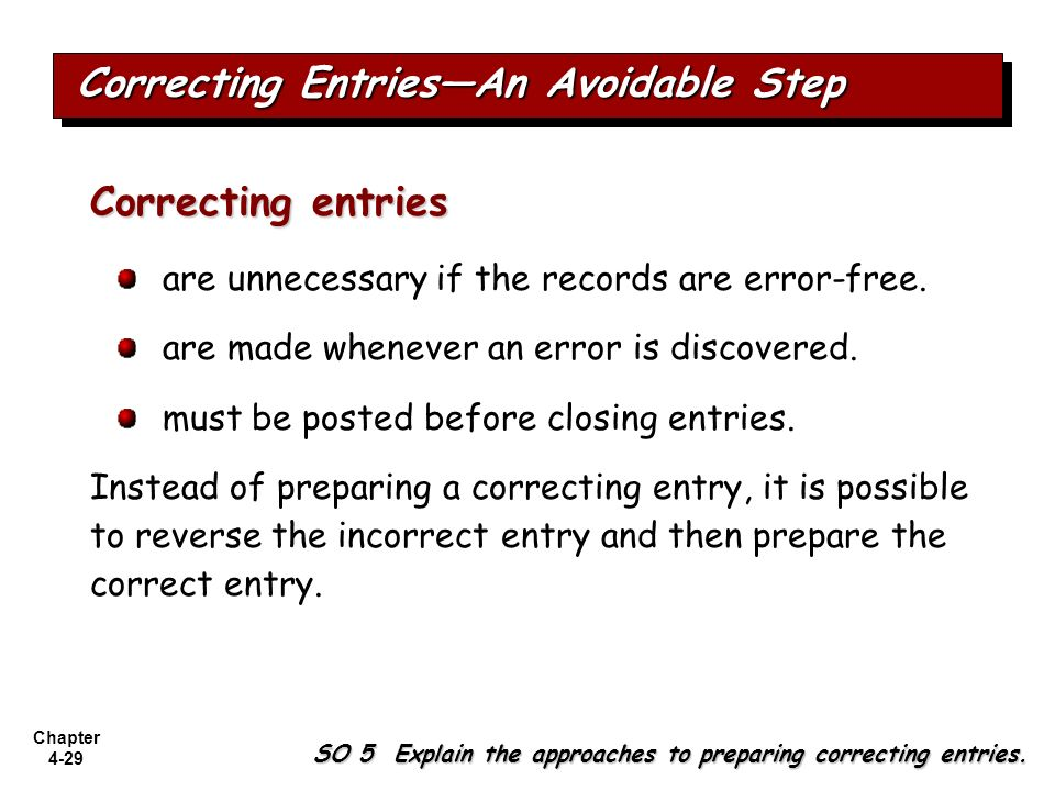 Correcting Entries—An Avoidable Step
