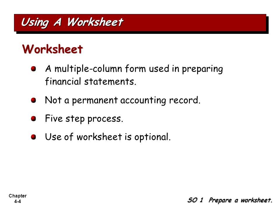 Worksheet Using A Worksheet