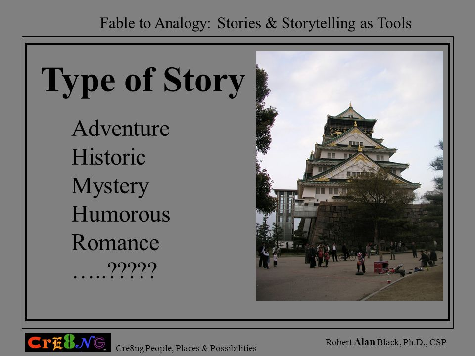 Type of Story Adventure Historic Mystery Humorous Romance …..