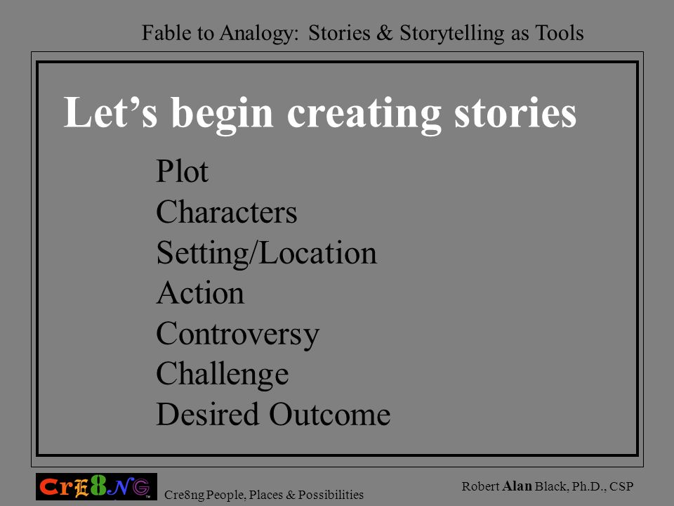 Let's begin creating stories