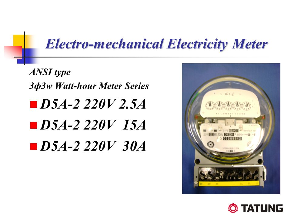 Electro-mechanical Electricity Meter