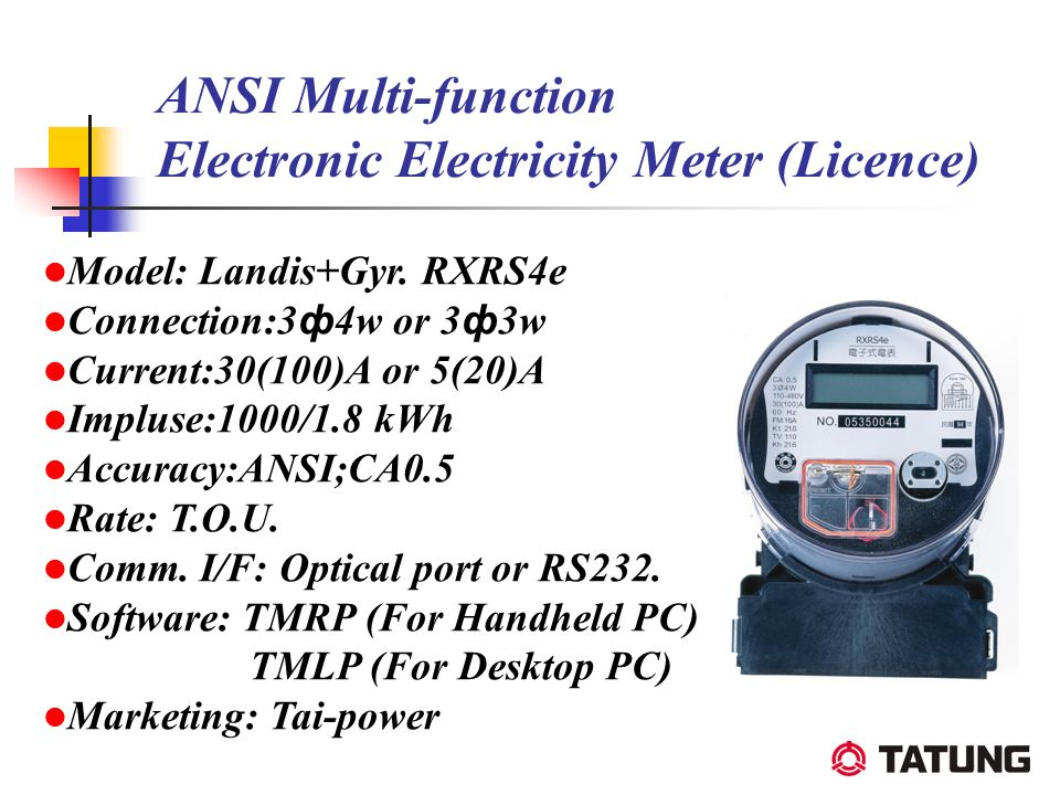 ANSI Multi-function Electronic Electricity Meter (Licence)