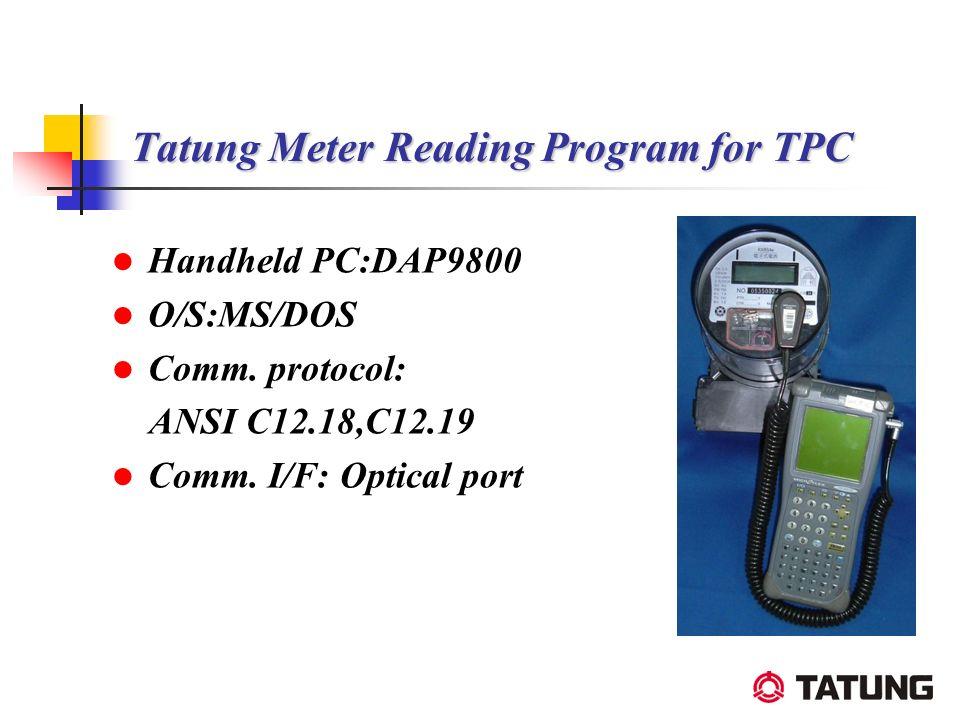 Tatung Meter Reading Program for TPC
