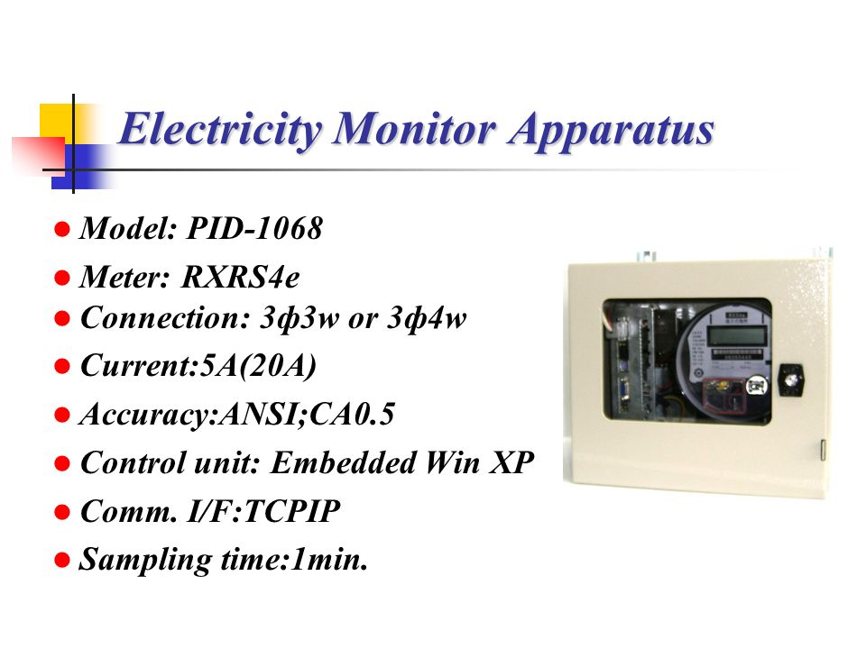 Electricity Monitor Apparatus