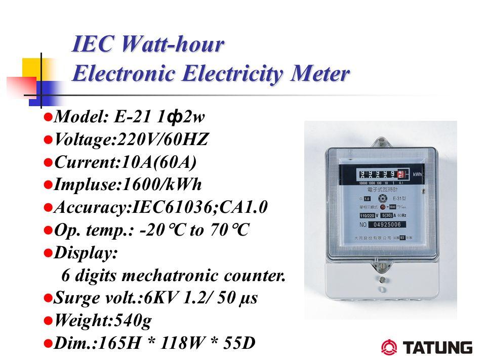 IEC Watt-hour Electronic Electricity Meter