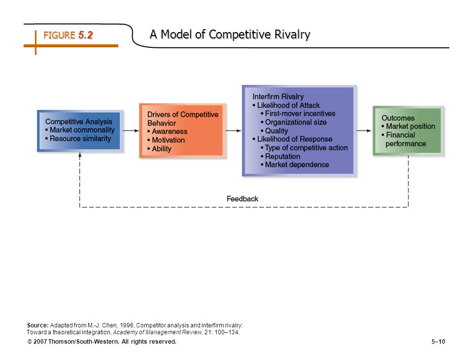 FIGURE 5.2 A Model of Competitive Rivalry