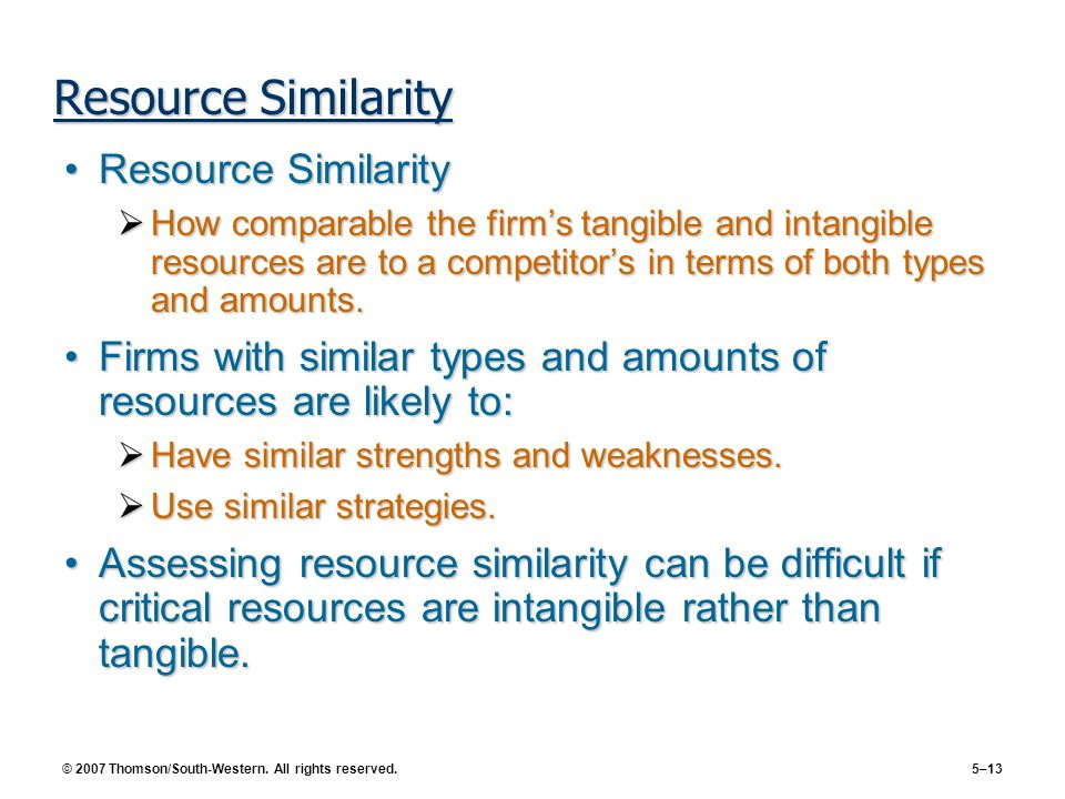 Resource Similarity Resource Similarity
