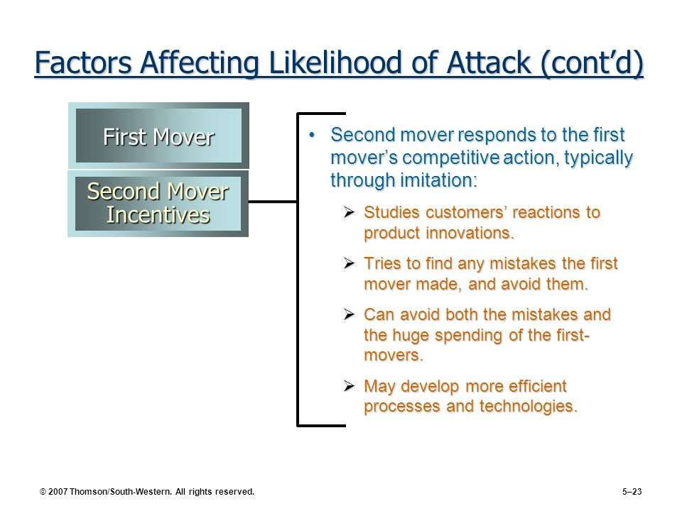 Factors Affecting Likelihood of Attack (cont'd)